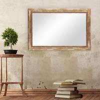 Wand-Spiegel 50x70 cm im Massivholz-Rahmen Barock-Stil Antik Gold / Spiegelfläche 40x60 cm – Bild 4