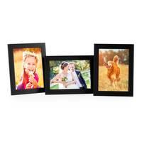 3er Set Bilderrahmen 13x18 cm Schwarz Modern aus MDF mit Glasscheibe und Zubehör / Fotorahmen  – Bild 1
