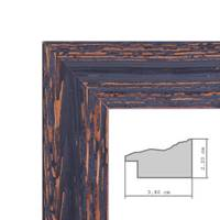 Wand-Spiegel 46x56 cm im Holzrahmen Dunkelbraun Shabby-Chic Vintage / Spiegelfläche 40x50 cm – Bild 4