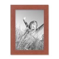 Bilderrahmen 13x18 cm Kirsche Modern Massivholz-Rahmen mit Glasscheibe und Zubehör / Fotorahmen  – Bild 1
