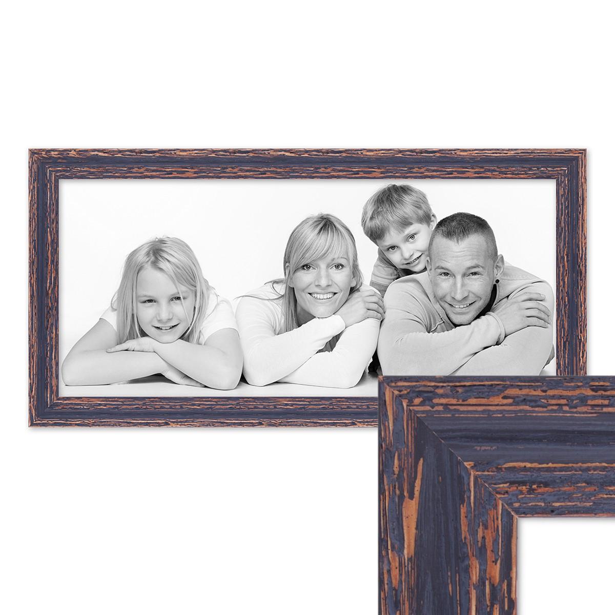 Panorama-Bilderrahmen Vintage 30x60 cm Holz Dunkelbraun Shabby-Chic ...