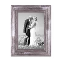 Bilderrahmen 13x18 cm Silber Barock Antik Massivholz mit Glasscheibe inkl. Zubehör / Fotorahmen / Barock-Rahmen  – Bild 3