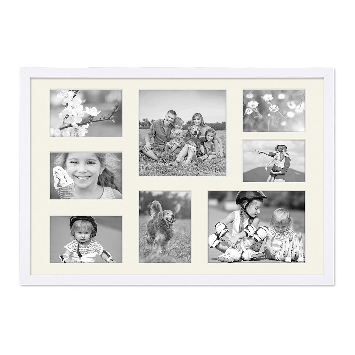 Fotocollage-Bilderrahmen 40x60 cm Modern Weiss Collagerahmen ...