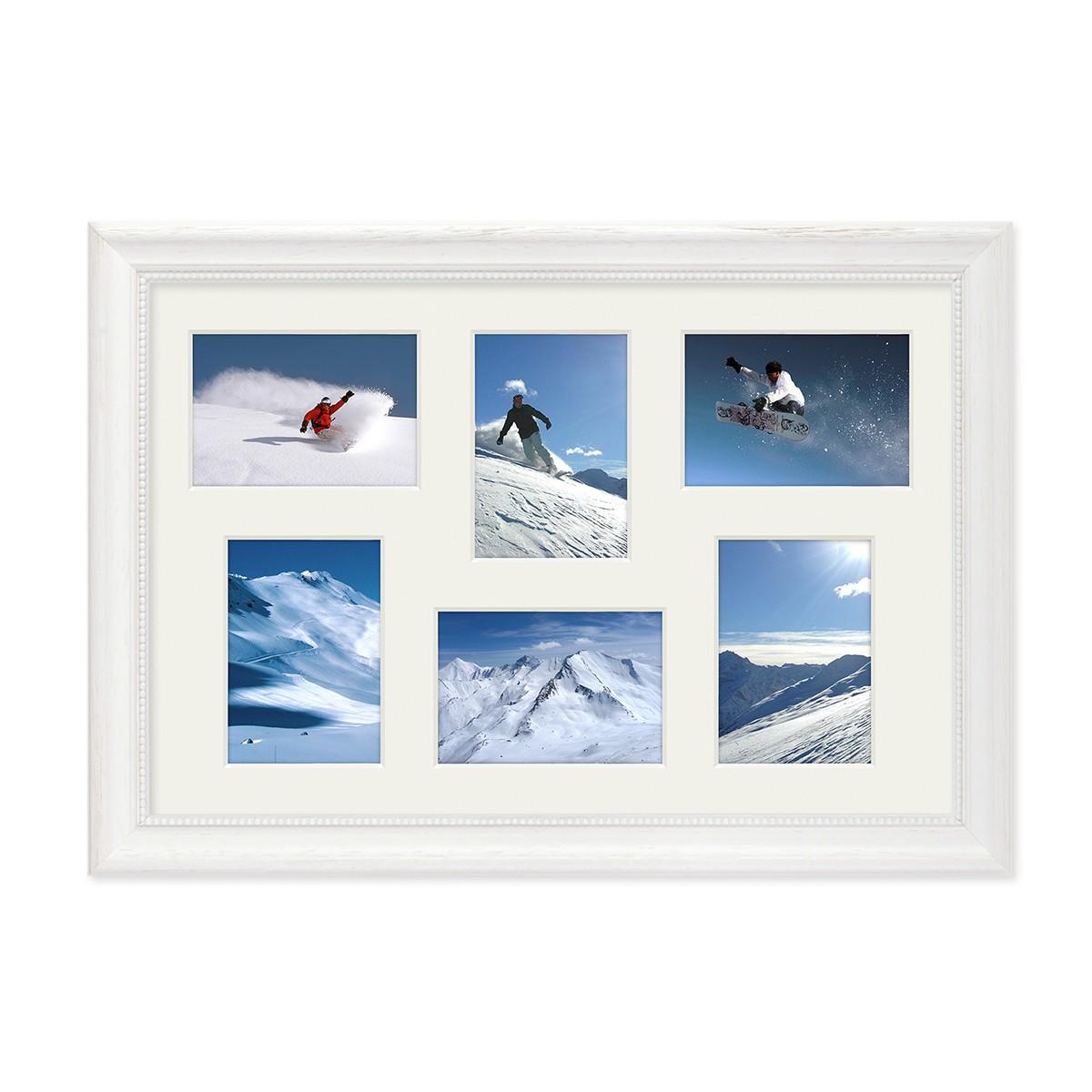 Fotocollage-Bilderrahmen 30x45 cm im Landhaus-Stil Weiss ...