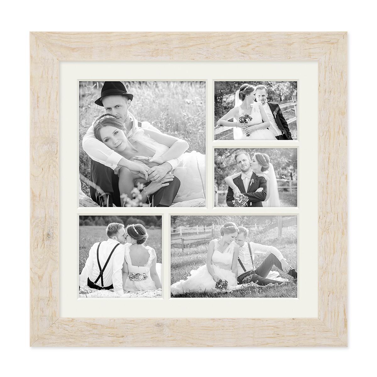 Fotocollage-Bilderrahmen 30x30 cm im Strandhaus-Stil Weiss ...
