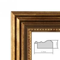 3er Set Bilderrahmen 10x10 cm Gold Barock Antik Massivholz mit Glasscheibe und Zubehör / Fotorahmen / Barock-Rahmen  – Bild 3