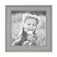 3er Set Bilderrahmen Skandinavischer Landhaus-Stil Grau-Braun 15x15 cm Massivholz mit Shabby-Chic Note / Fotorahmen / Wechselrahmen – Bild 6