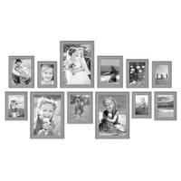 12er Set Bilderrahmen Skandinavischer Landhaus-Stil Grau-Braun 10x15 bis 20x30 cm inklusive Zubehör / Fotorahmen / Wechselrahmen – Bild 3