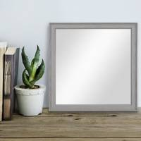 Wand-Spiegel 34x34 cm im Holzrahmen Skandinavisches Design Grau-Braun Quadratisch / Spiegelfläche 30x30 cm – Bild 2