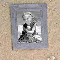 5er Bilderrahmen-Set 21x30 cm / DIN A4 Strandhaus Grau Rustikal Massivholz mit Glasscheibe inkl. Zubehör / Fotorahmen  – Bild 2