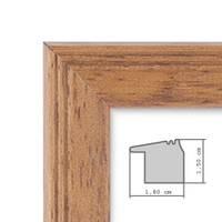 Fotocollage-Bilderrahmen 30x30 cm im Landhaus-Stil, Eiche-Optik, Collagerahmen, Bildergalerie-Rahmen für 5 Bilder, Wechselrahmen mit Passepartout – Bild 4