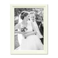 Bilderrahmen Landhaus-Stil Shabby-Chic Weiss 21x30 cm DIN A4 Massivholz / Fotorahmen / Portraitrahmen