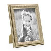 Bilderrahmen Antik Silber Nostalgie 10x15 cm Fotorahmen mit Glasscheibe / Kunststoff-Rahmen – Bild 1
