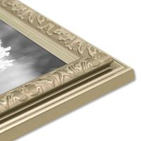 2er Set Bilderrahmen Antik Silber Nostalgie 15x20 cm Fotorahmen mit Glasscheibe / Kunststoff-Rahmen – Bild 7