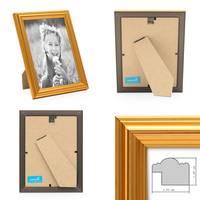 3er Set Bilderrahmen Gold Barock Antik 15x20 cm Fotorahmen mit Glasscheibe / Kunststoffrahmen – Bild 3