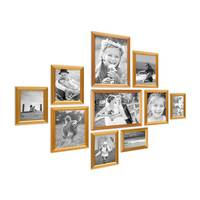 10er Bilderrahmen-Set Gold Barock Antik aus Kunststoff
