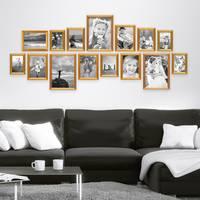 15er Bilderrahmen-Set Gold Barock Antik aus Kunststoff inklusive Zubehör / Bildergalerie / Foto-Collage – Bild 2