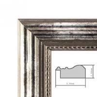 3er Set Bilderrahmen 20x30 cm Silber Barock Antik Massivholz mit Glasscheibe und Zubehör / Fotorahmen / Barock-Rahmen  – Bild 2