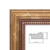 8er-Set Bilderrahmen Gold Barock Antik je 2 mal 10x10 10x15 20x20 und 20x30 cm inkl. Zubehör Fotorahmen / Barock-Rahmen  – Bild 3