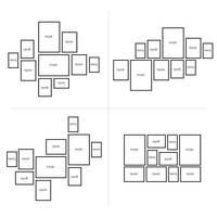 10er Bilderrahmen-Set Landhaus-Stil Shabby-Chic Weiss Massivholz / Fotorahmen / Portraitrahmen  – Bild 5