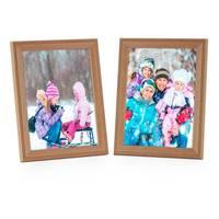 2er Set Landhaus-Bilderrahmen 10x15 cm Eiche-Optik Massivholz mit Glasscheibe und Zubehör / zum Stellen oder Hängen / Fotorahmen  – Bild 7