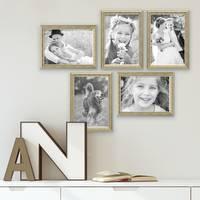 5er Bilderrahmen-Set Antik Silber Nostalgie 21x30 cm DIN A4 Fotorahmen mit Glasscheibe / inklusive Zubehör – Bild 4