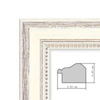 2er Set Bilderrahmen Shabby-Chic Landhaus-Stil Weiss 18x24 cm Massivholz mit Glasscheibe und Zubehör / Fotorahmen  – Bild 4