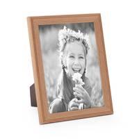 5er Set Landhaus-Bilderrahmen 18x24 cm Eiche-Optik Massivholz mit Glasscheibe und Zubehör / Fotorahmen  – Bild 5