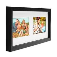 Collage-Bilderrahmen / Bildergalerie Modern, Schwarz, Objektrahmen aus MDF für 2 Bilder 10x15 cm