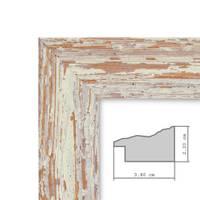 2er Set Vintage Bilderrahmen 15x20 cm Weiss Shabby-Chic Massivholz mit Glasscheibe und Zubehör / Fotorahmen / Nostalgierahmen  – Bild 4