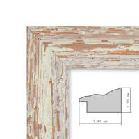 2er Set Vintage Bilderrahmen 21x30 cm / DIN A4 Weiss Shabby-Chic Massivholz mit Glasscheibe und Zubehör / Fotorahmen / Nostalgierahmen  – Bild 2