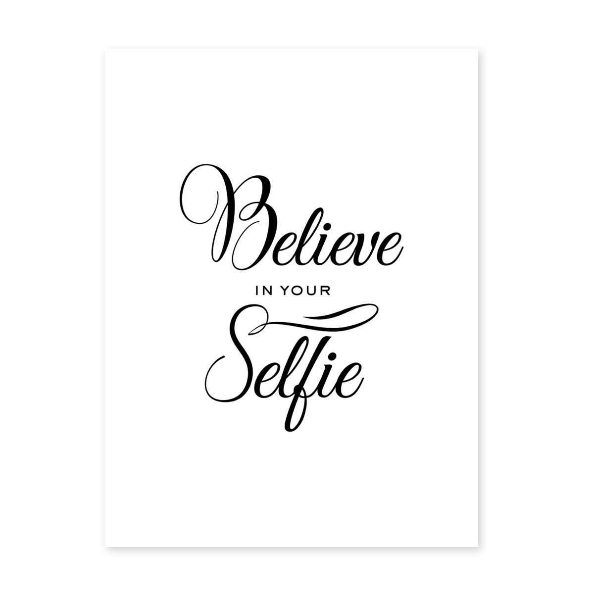 poster 39 selfie 39 30x40 cm schwarz weiss motiv fun spruch. Black Bedroom Furniture Sets. Home Design Ideas