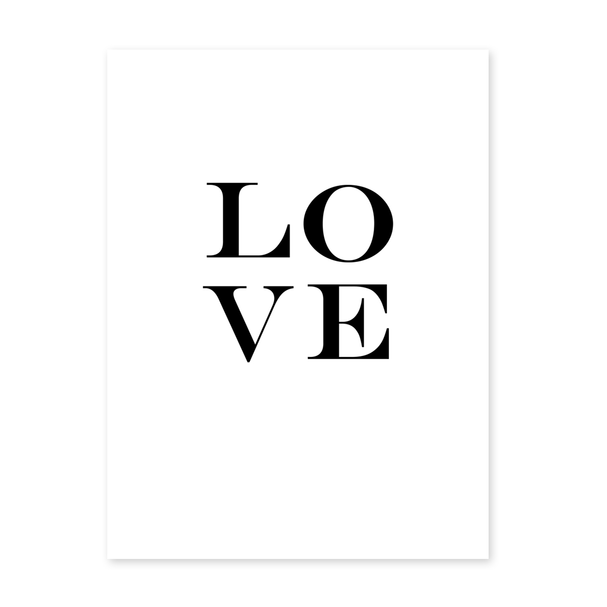 design poster 39 love letters 39 30x40 cm schwarz weiss motiv typographie liebe poster schwarz weiss. Black Bedroom Furniture Sets. Home Design Ideas