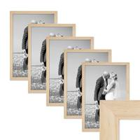 5er Bilderrahmen-Set 30x42 cm / DIN A3 Kiefer Natur Modern Massivholz-Rahmen