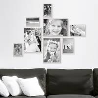 8er Set Alu-Bilderrahmen 10x15 bis 21x30 cm Modern Silber Aluminium-Rahmen mit Acrylglasscheibe inkl. Zubehör / Bildergalerie / Foto-Collage – Bild 6