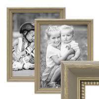 2er Bilderrahmen-Set 30x42 cm / DIN A3 Grau Shabby-Chic Landhaus-Stil