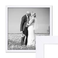 Bilderrahmen 50x50 cm Weiss Modern aus MDF mit Glasscheibe und Zubehör / Fotorahmen  – Bild 1