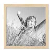 Bilderrahmen 30x30 cm Kiefer Natur Modern Massivholz-Rahmen mit Glasscheibe und Zubehör / Fotorahmen  – Bild 5