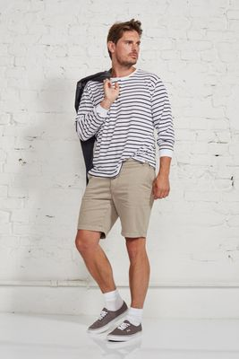 Henley stripe male