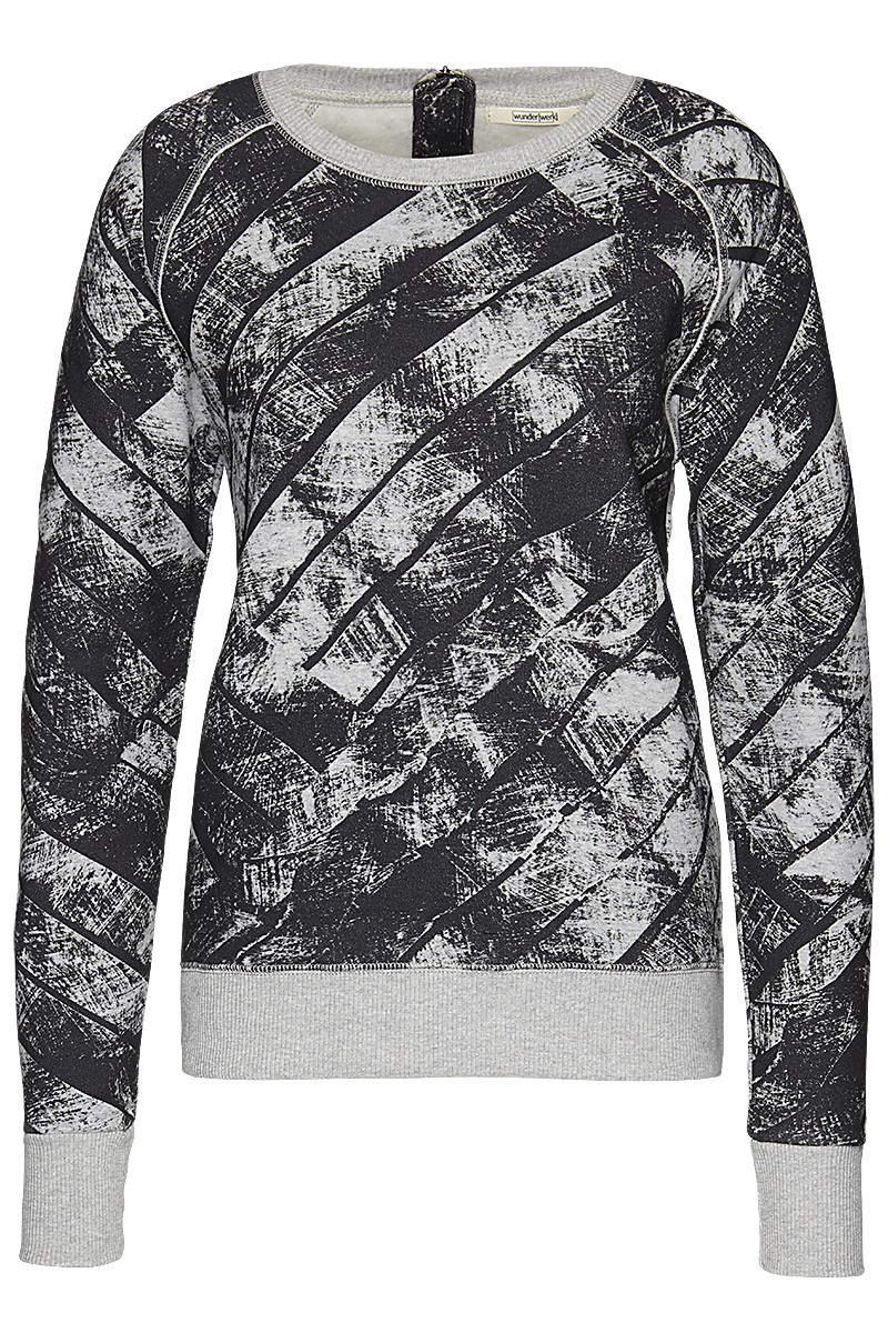 Soft sweat crew b/w print