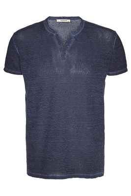 Linen slash neck tee male m.t.