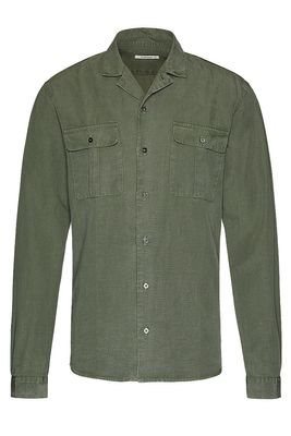 Linen TENCEL safari shirt slim
