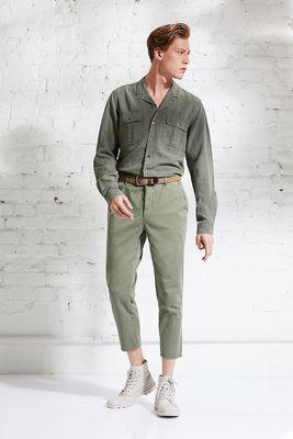 Linen TENCEL safari shirt slim