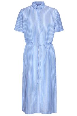 Cotton linen stripe dress