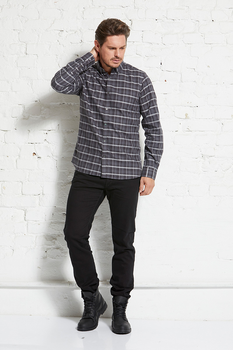 Flanell shirt Button-down male