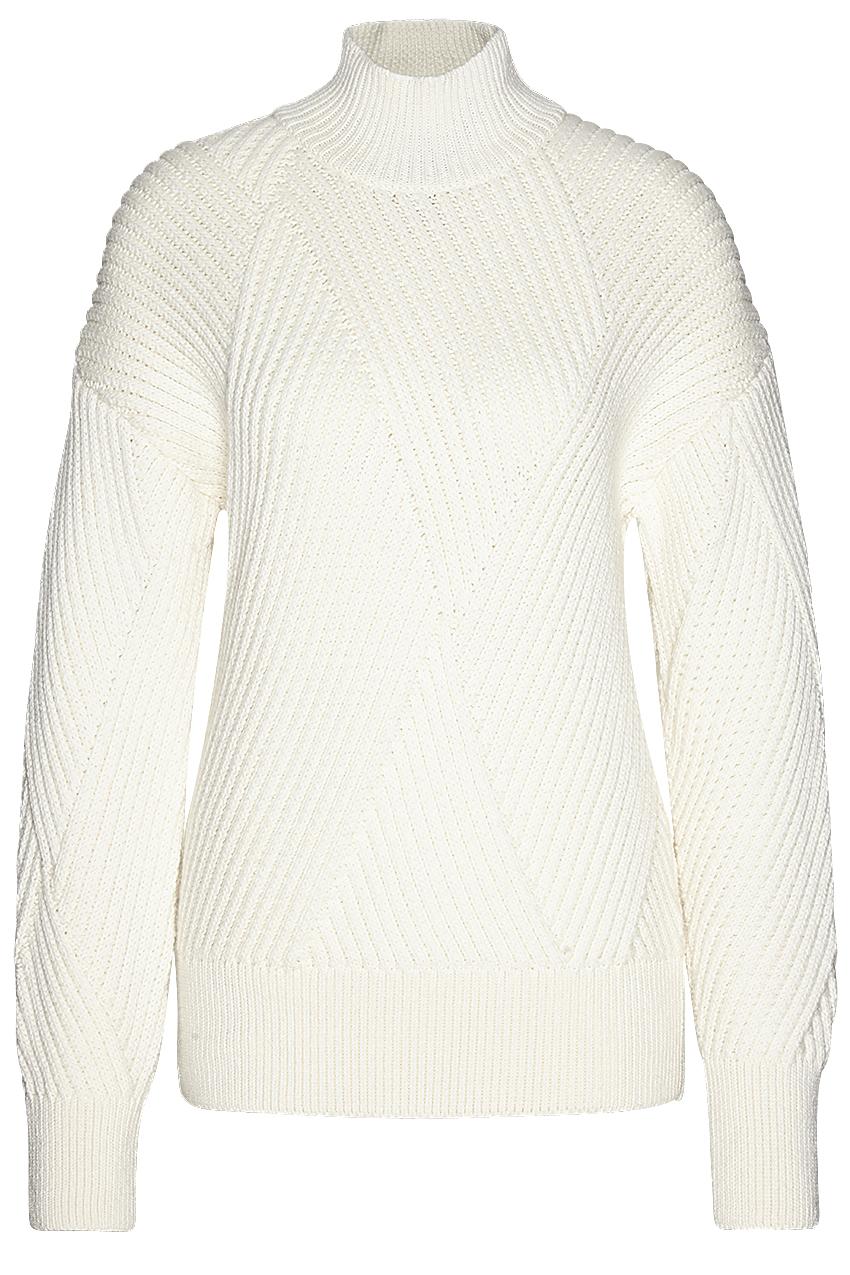Turtleneck rhombs knit