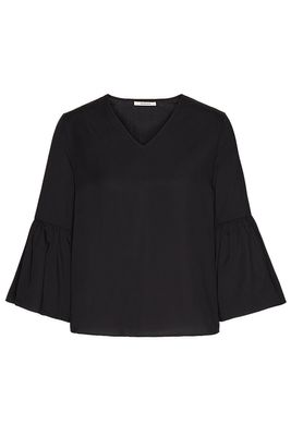 Volant sleeve blouse TENCEL