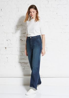Wide leg denim pant