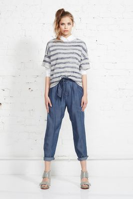 TENCEL denim paperbag pant