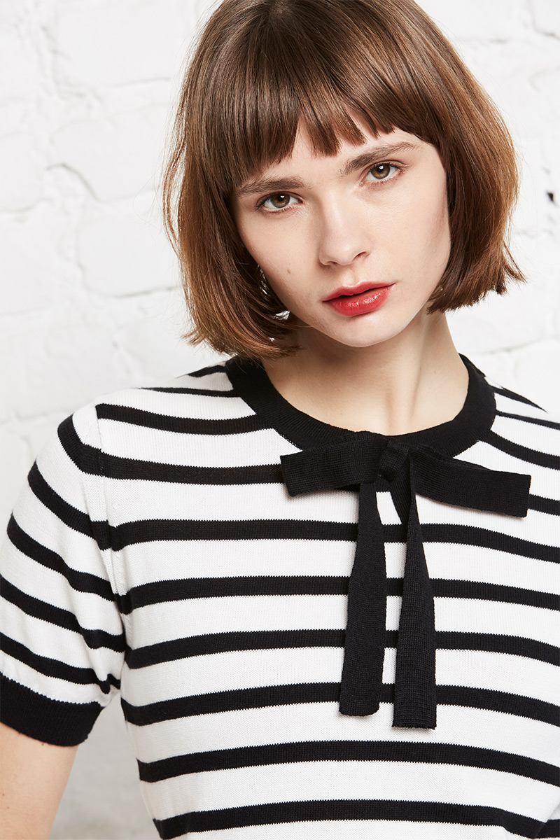 Crewknit 1/2 parisian stripes